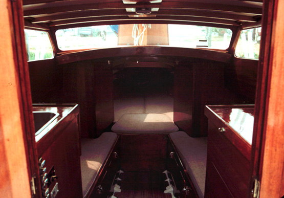 Delightful The Interior Was Finished In Beautiful Gloss Lacquered Mahogany, And Was  The Real Asset Of The Boat. On The Right Is An Alcohol Stove For Cooking  And A ...