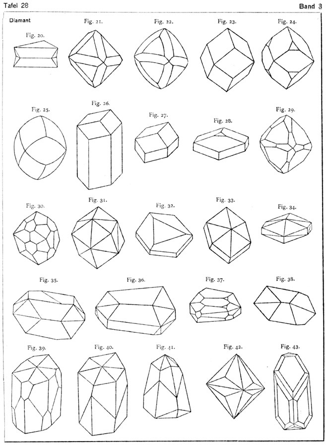 Quartz Crystal Drawing Diamond crystal diagrams fromQuartz Crystals Drawing