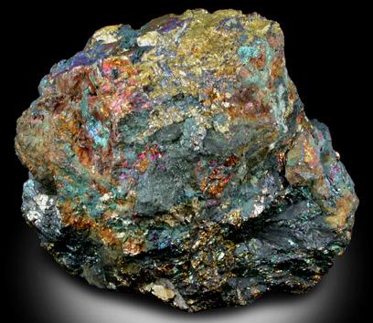 Photographs of mineral No. 29397: Bornite, Chalcopyrite ...